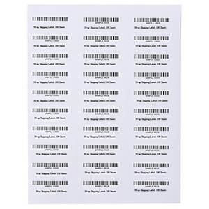 Custom printing self adhesive a4 size paper barcode label sticker