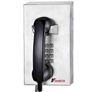 KNTECH Wall-mounted Rugged Inmate Jail Telephone with Armoured Cord Handset for Prison