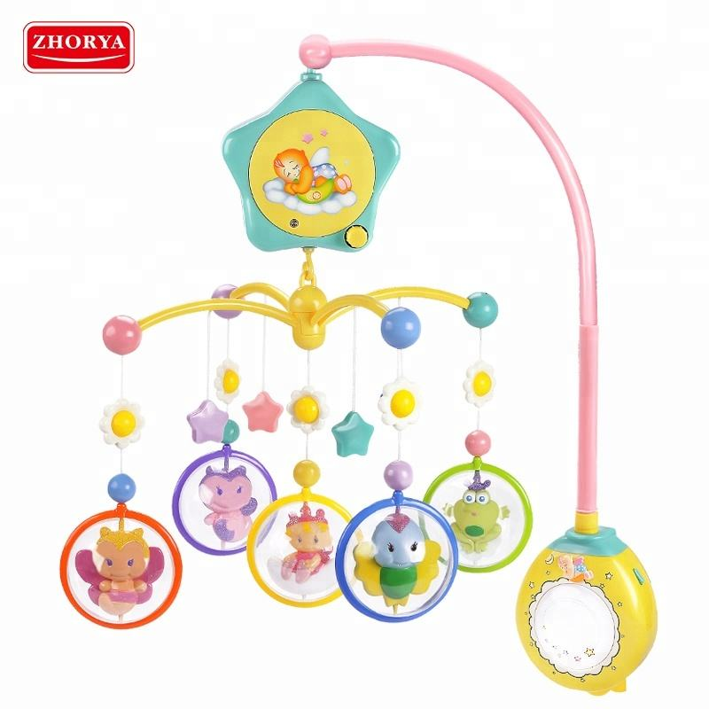 Electric zhorya musical bed bell hanging baby bed bell mobile toy with 30 songs