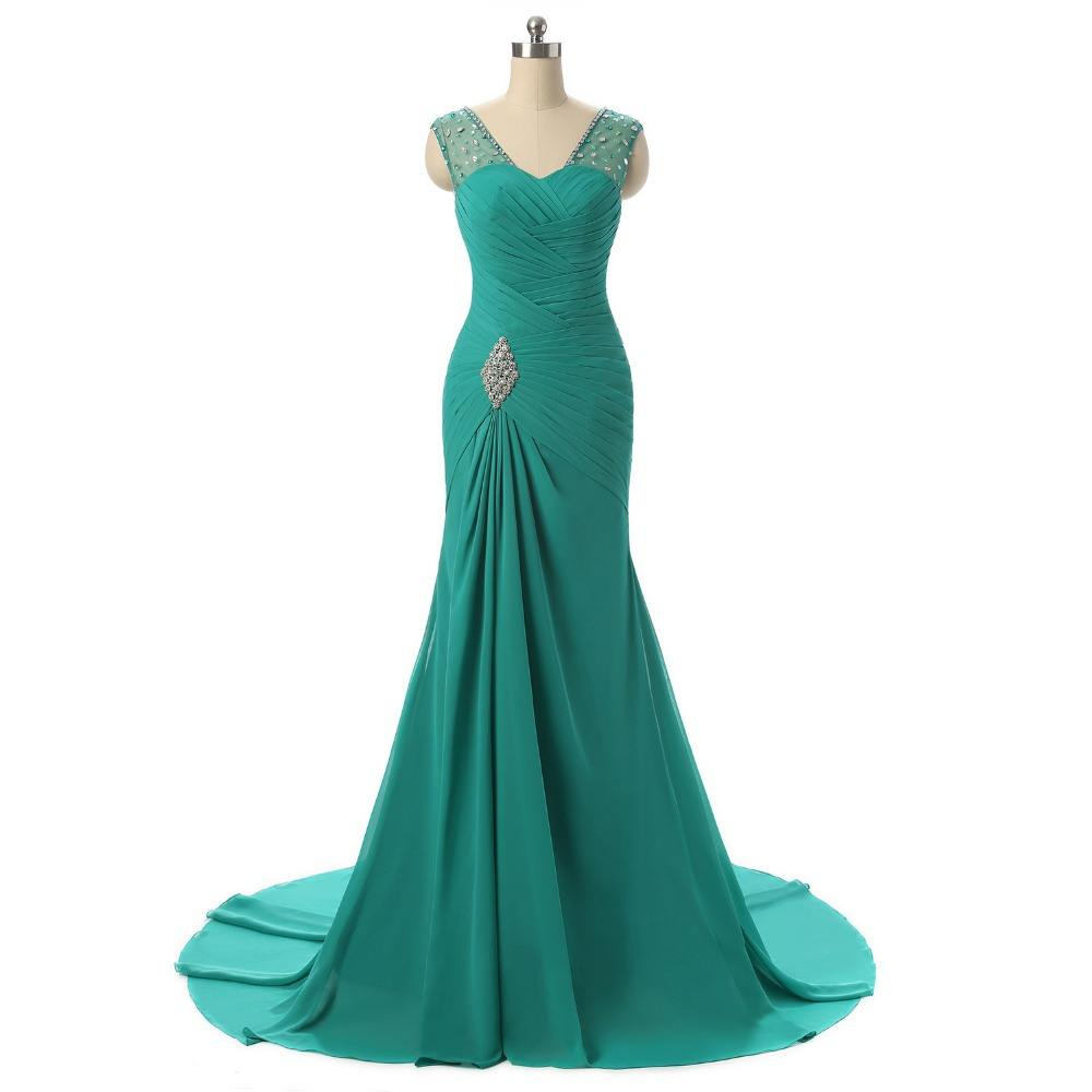 Wanita Chiffon Lace Terbaru Desain Evening Bola Formal Gown Dress