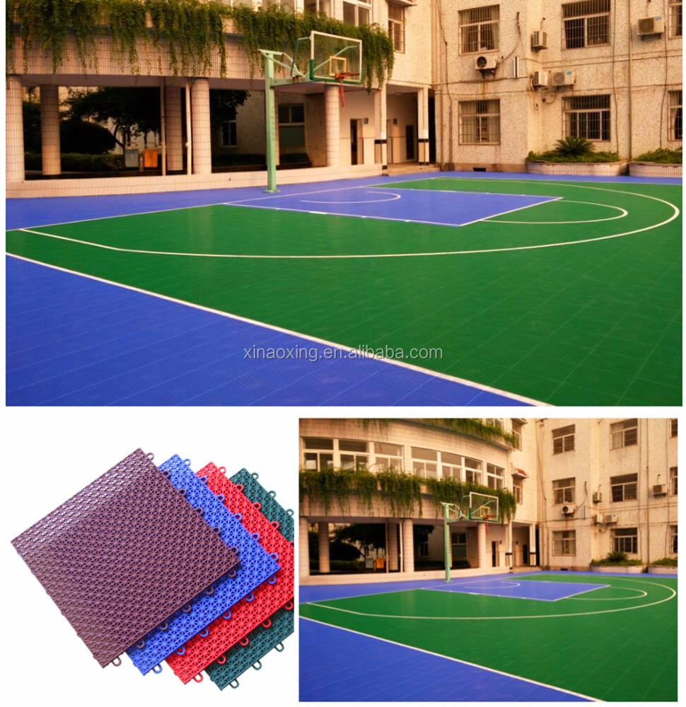 Plastic outdoor used basketball sport court floor