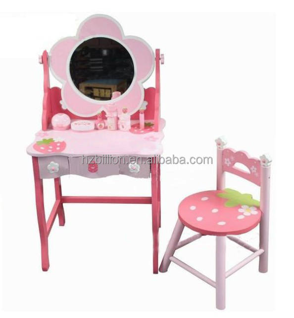 Mother Garden Children Wooden Vanity and Stool kids furniture