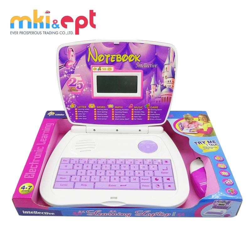 Kids intelligent laptop computer learning machine toy