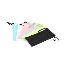 High Quality Multiple Color Polyester Glasses Case Bag Sunglasses Pouch