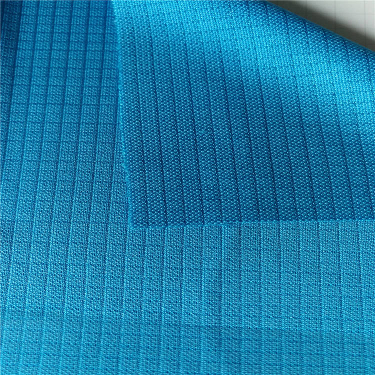 polyester knit square jacquard fabric for T shirt