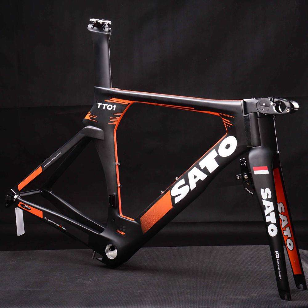 High quality Carbon TT Bike Frame,T700 Full Carbon fiber Triathlon Bicycle Frame,Miracle cheapest Carbon Time Trial Bike Frame