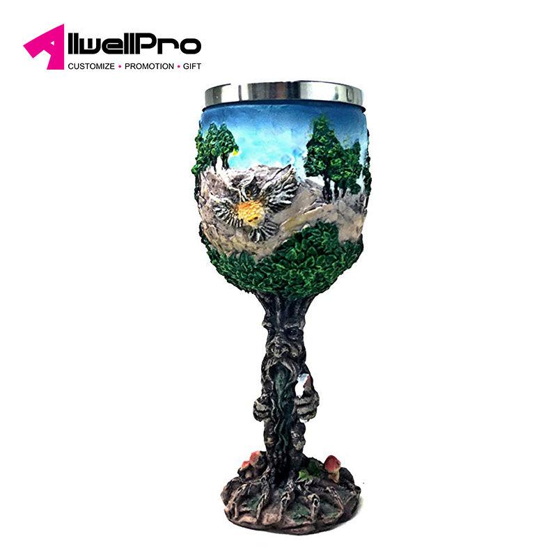 Plastic Golden Skeleton Hand Chalice  Goblet Halloween Cup 9oz