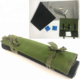Rifle gun cleaning kit roll bag with anti-oil anti-slide gun cleaning mat oil absorbed non woven cloth patches