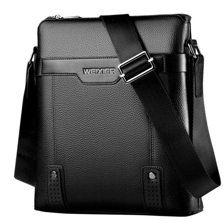 Amazon weixier brand leisure style synthetic leather sling messenger bag single shoulder bag men