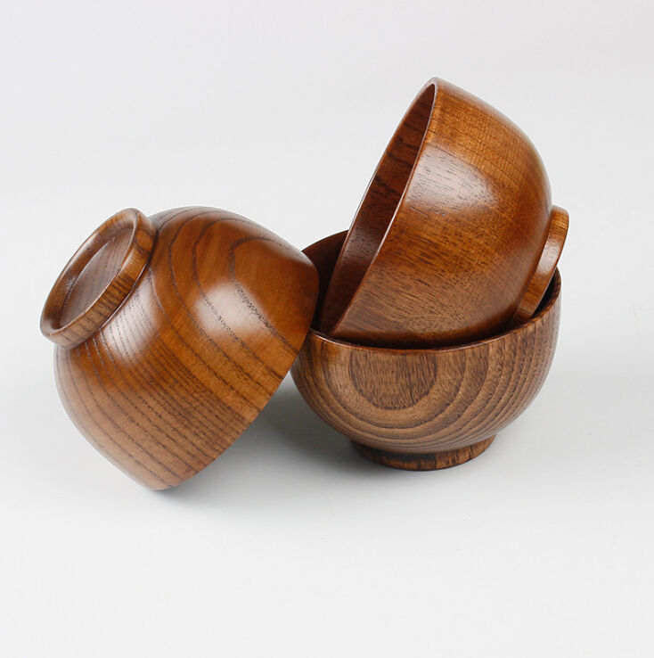Wholesale high quality Jujube small wood food bowl OEM supported wooden bowl