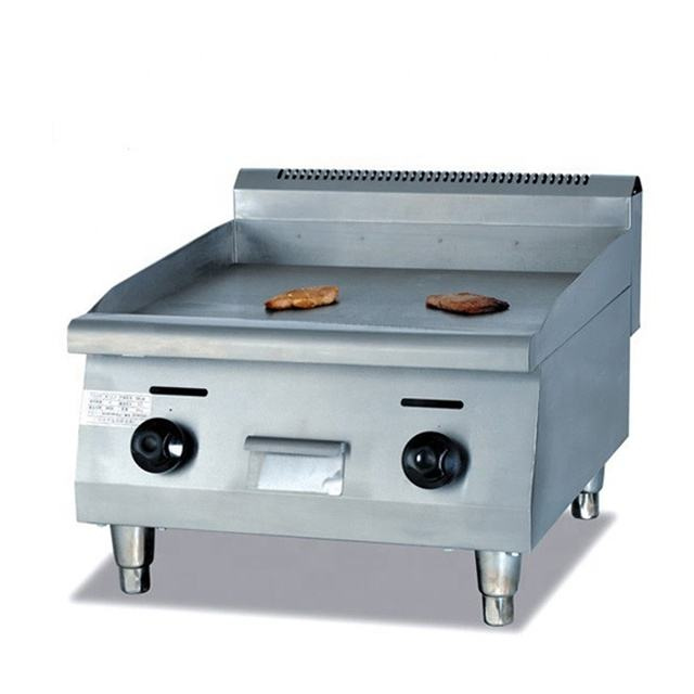 Commercial Gas Griddle (Flat plate) with H shaped burner thickness of griddel:16mm cooking area:59*46cm
