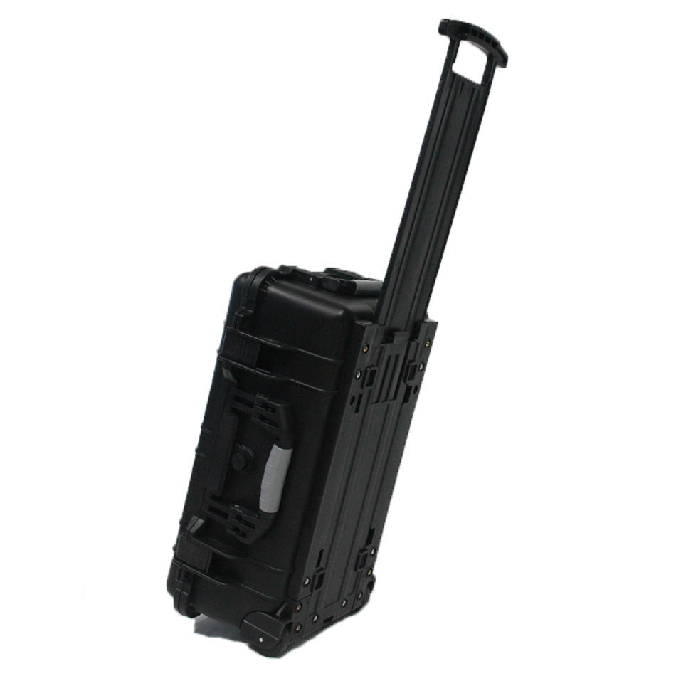 Rugged hard plastic flight case high impact waterproof equipment instrument trolley case