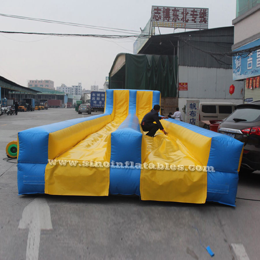 Commercial grade blow up slip and slide for adult inflatable 5k obstacle training