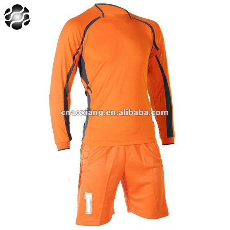 Good quality top design goalkeeper wear ,soccer kits