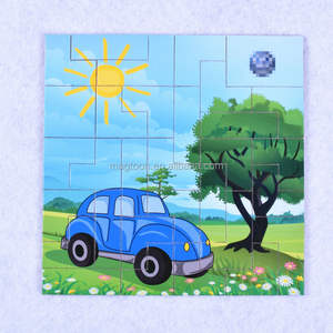 Wooden magnet jigsaw puzzle toy for kids
