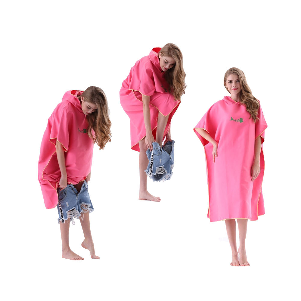Multi-purpose Thick Microfiber Compressed Surf Poncho Custom Beach Hooded Towel