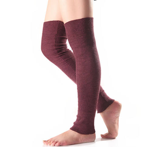 Winter solid color winter long over the knee yoga leg warmers