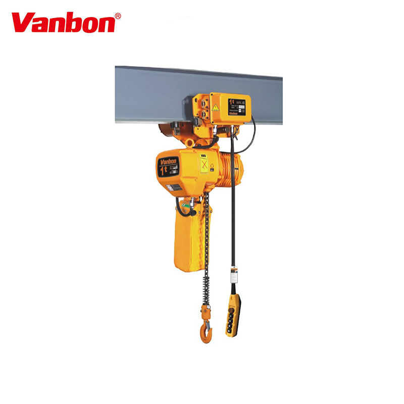 Vanbon Japan imported G80 chain used 1 ton 2 ton electric chain hoist for overhead crane