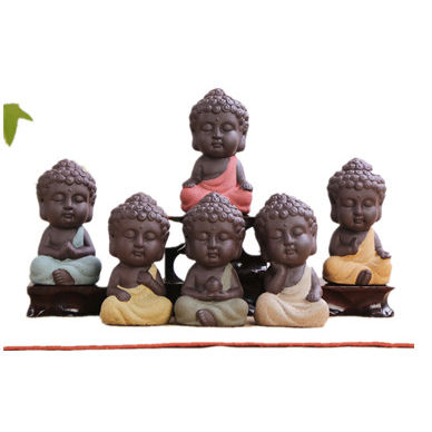 Ceramic craft baby Small little ceramic Buddha Statue for sale budda porcelain pottery for room