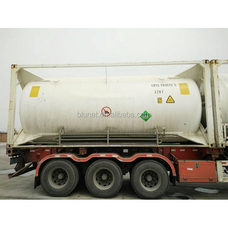 Vertical cryogenic liquid tank 99.9% high purity N2O ISO tank china produce 20000L cryogenic liquid tank
