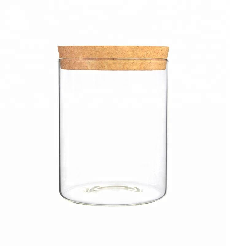 cork lid for glass kitchen containers storage for food