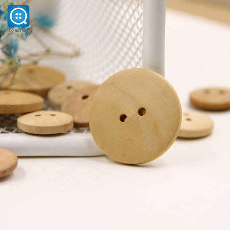 SK new design wooden Bread buttons for shirts 2 holes custom logo big wood button