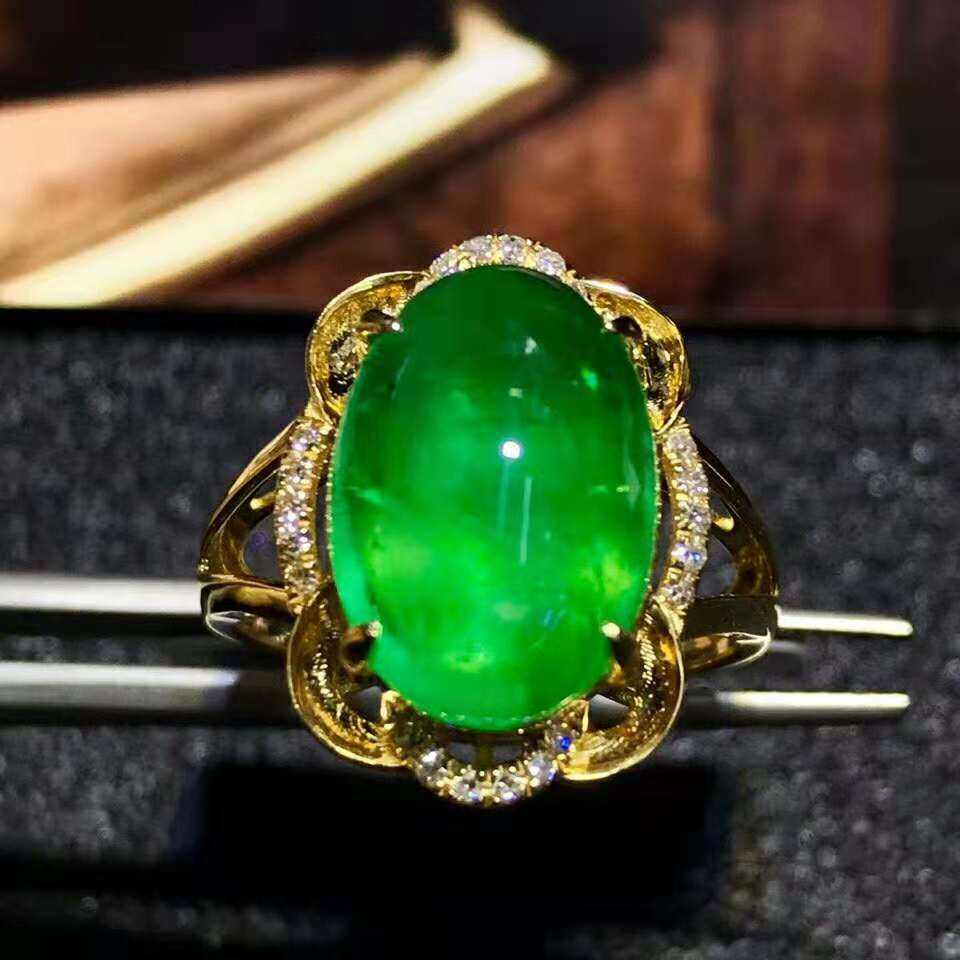 Hot Selling Golden Supplier Oval Shape Emerald Ring Exporter