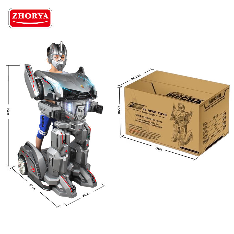 zhorya kids electric big remote control robot ride on car