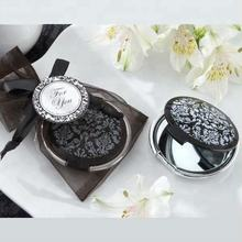 Wedding Return Gifts Elegant Black and White Compact Mirror