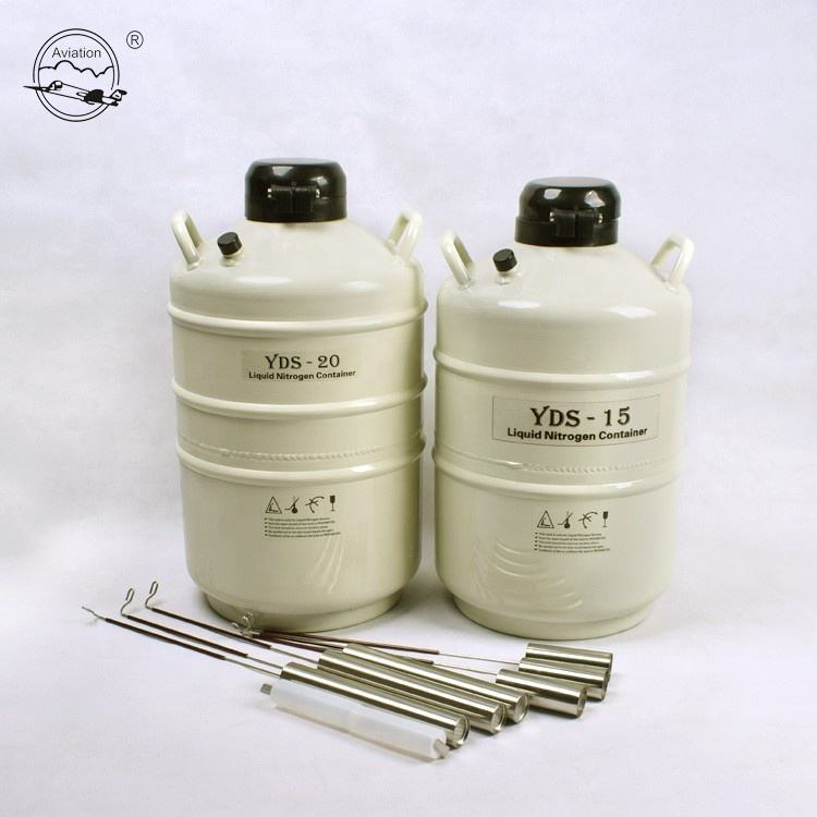 Small portable liquid nitrogen bull semen cryogenic tank