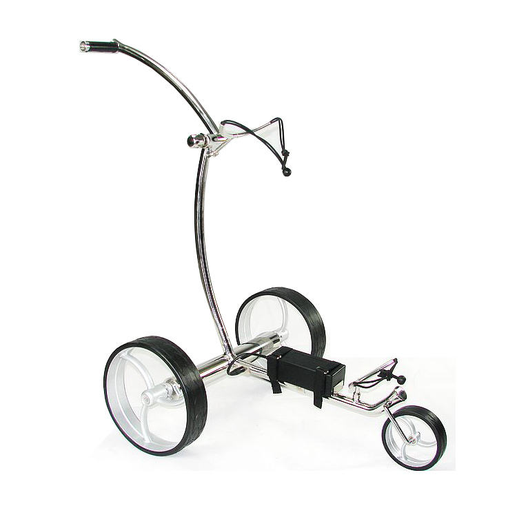 High Performance Stainless Steel Golf Lithium Battery Trolley