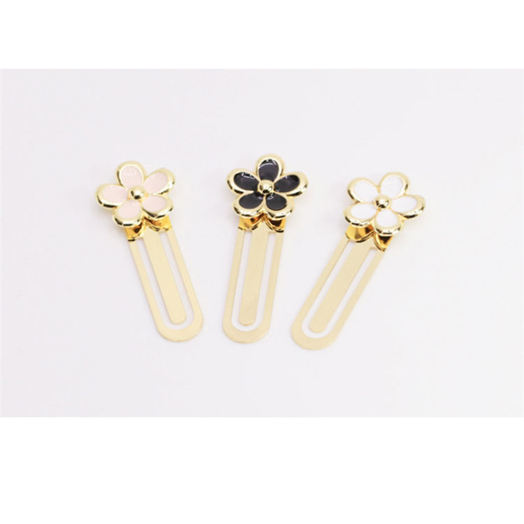 Daisy Flower Metal Planner Paper Clip Material Escolar Bookmarks For Book Stationery School