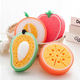 Fun cartoon fruit kitchen scrub sponge for dish washing