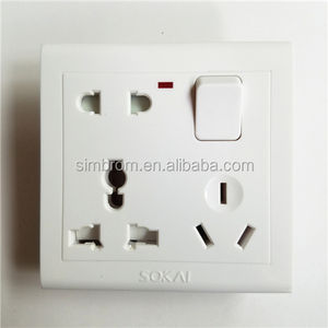 ABS Bangladesh 8 pin multi socket interruptor de pared