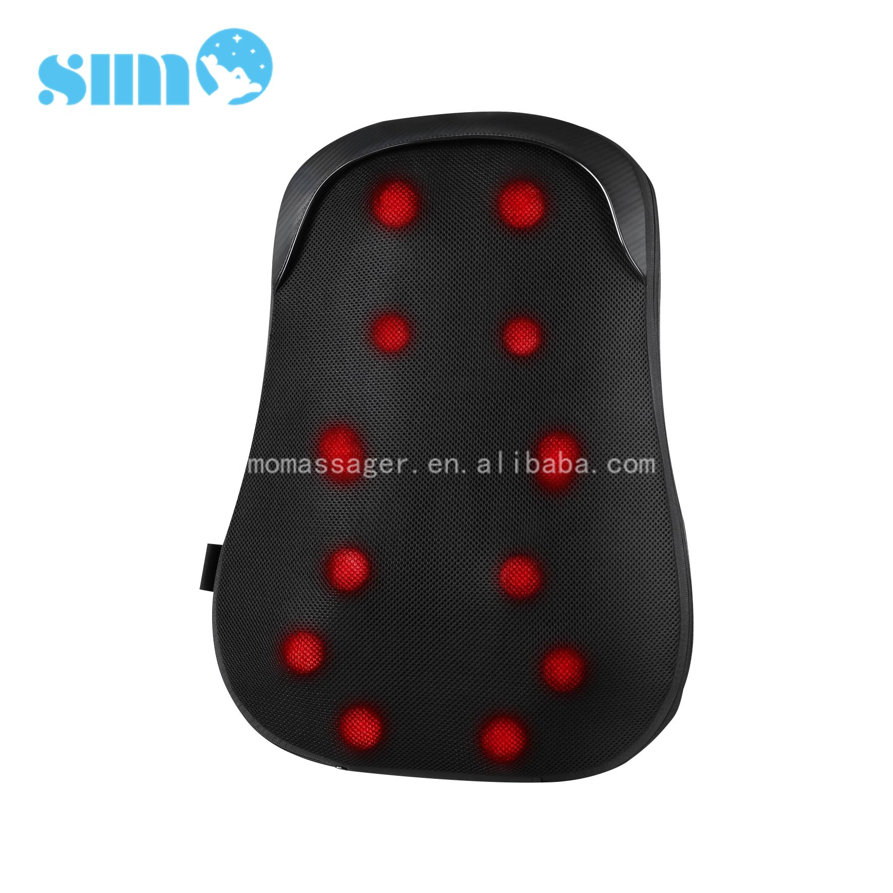 high quality Factory custom back massager heated shiatsu recliner seat massage cushion