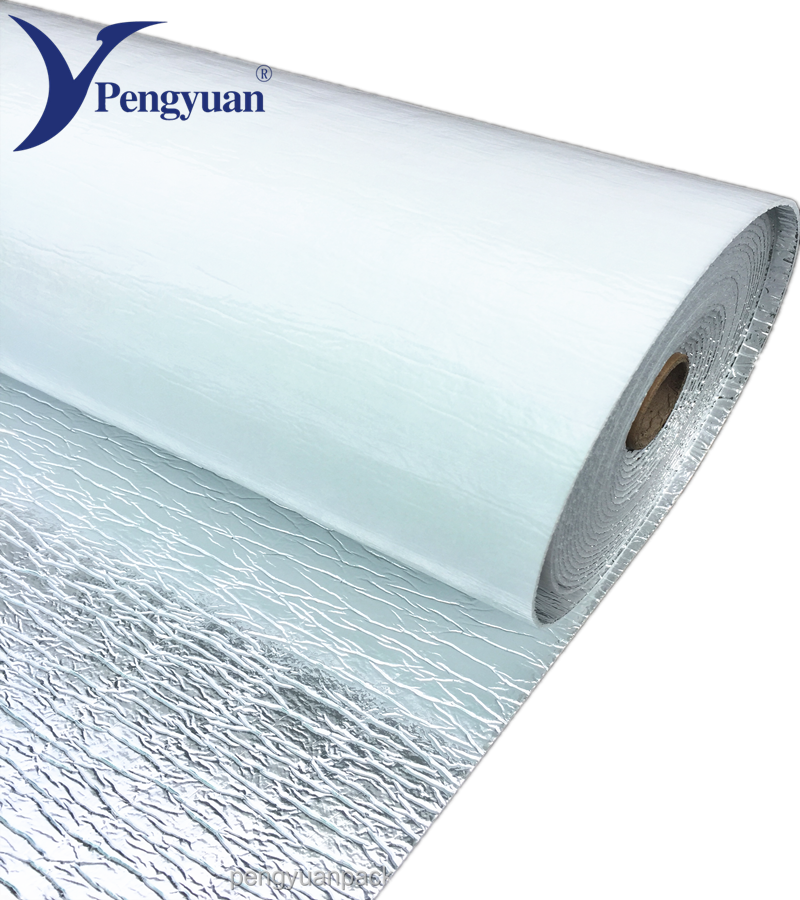 Silver aluminum foil with foam open cell flooring insulation