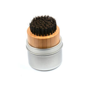 wholesale custom logo pure boar bristle beard brush