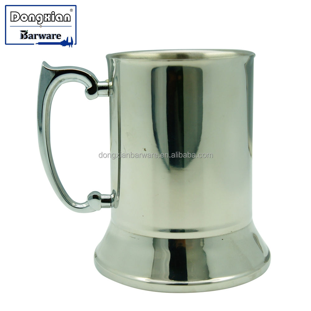 Double Wall Stainless Steel Copper Plated Insulated Beer Mug, 17 Oz. 500 Ml A Classic Profile