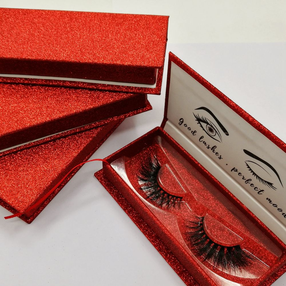Mikiwi private label mink lashes false eye lashes glitter custom eyelash packaging box with window faux cils 3d