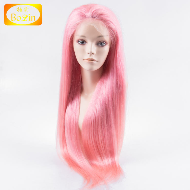 pink full lace wig with baby hair for black women