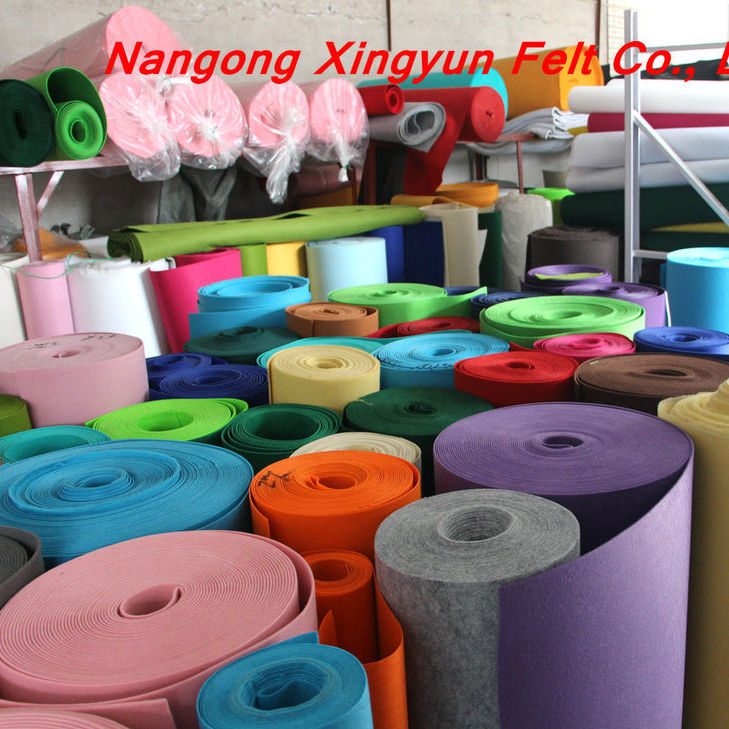 1 to 4mm non wovenl fabric felt fabric roll color polyester felt fabric rolls