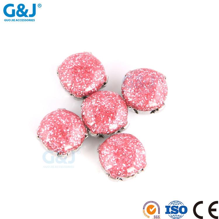 Guojie marke yiwu großhandel benutzerdefinierte diamant preise kristall perlen strass charme zu dekorative kleidung