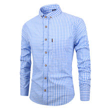 Custom Casual 100 cotton fitness long sleeve plaid shirts for men