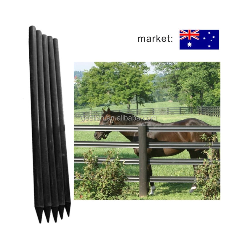 Australia Customized 4inch Garden Plastic Composite Cattle Fence Post / recycled plastic horse post fence / Used farm fencing