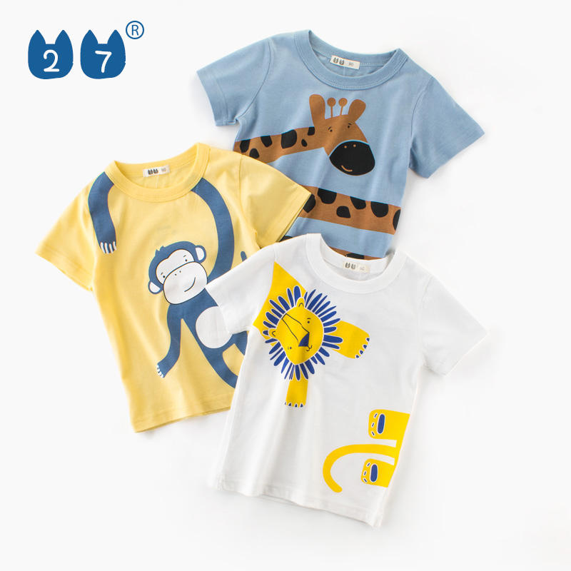 New arrival designer korean style 100% cotton kids tshirts for boys