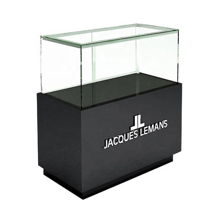 Factory custom design fashion wood glass watch display showcase,retail shop luxury watch display cabinet