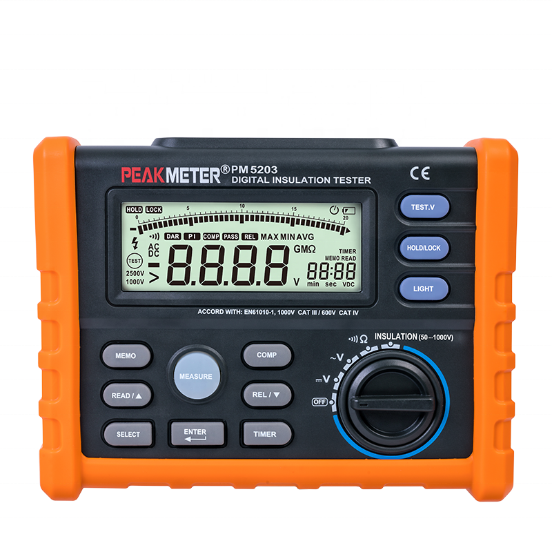 MS5203 1000v megger contact resistance meter digital resistance panel meter high voltage insulation tester mega ohm meter ohmete