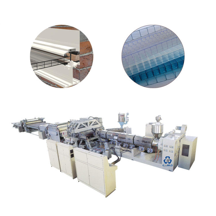 PC Polycarbonate Hollow Sheet Extrusion Line,Polycarbonate Extruder Machine