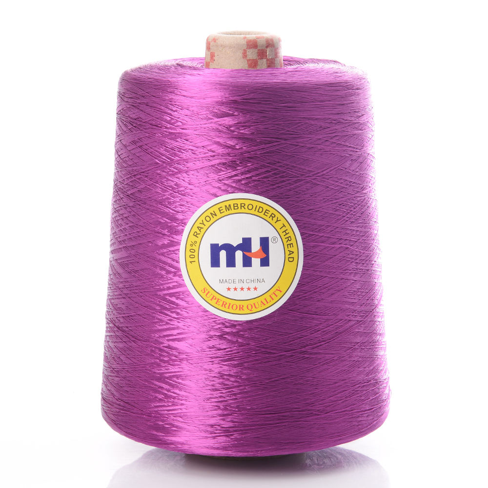 100% Viscose Rayon Embroidery Thread Yarn Material 300D/1 1KG/Cone