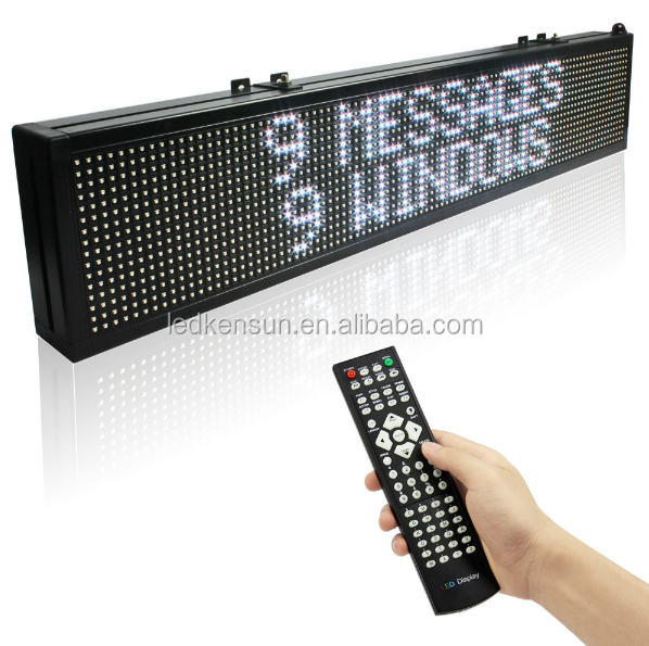 40 x 6 inches 15M Remote control SMD Full color Programmable LED Sign Open Running Two Lines Scrolling Message Display Board